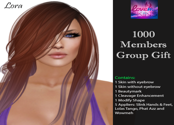LoveMe Skins June Group Gift