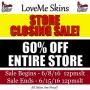 LoveMe Skins – CLOSING DOWN!! 60% OFFSALE!